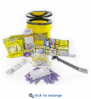 Mayday 2-Person Deluxe Honey Bucket Emergency Preparedness Kit