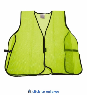 Mesh Safety Vest Neon Lime Green