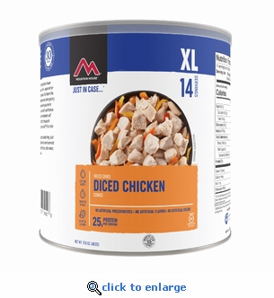 Mountain House Freeze Dried Cooked Diced Chicken - #10 Cans - Case of 6