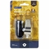 Nickel Plated Brass Signal Whistle with Black Lanyard
