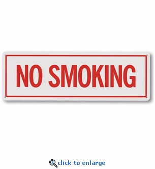 No Smoking Sign - Aluminum - 12