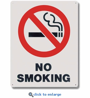 No Smoking Sign - Aluminum - 8