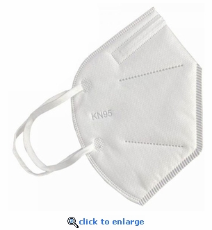 Pack of 10 KN95 Protective Face Masks - Adjustable Nose Clips