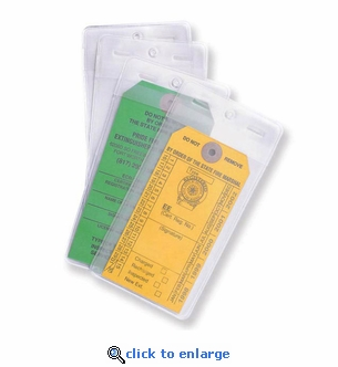 Pack of 25 Heavy-Duty Tag Cover, 6 1/2