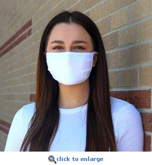 Earloop Face Masks - 100% Cotton - 3-Layer with Filter Pocket - Reusable - Washable