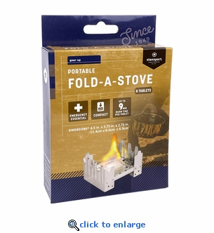 Stansport Fold-Up Stove with 8 Fuel Tablets