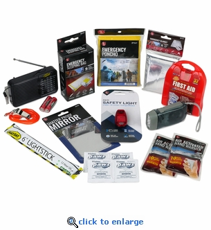 STAY SAFE Homeless Care Safety & Survival Kit with Radio - 16 piece