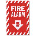 "Vinyl Self-Adhesive Fire Alarm Arrow Sign - 8"" x 12"""