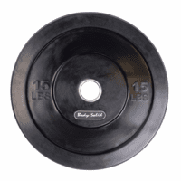 Body Solid 15lb Olympic Rubber Bumper Plates - Pair