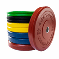 Body Solid 260lb Rubber Bumper Plate Set