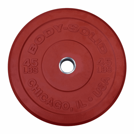 Body Solid 45lb Olympic Rubber Bumper Plates - Pair