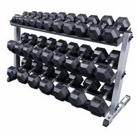 Body Solid 5-70lb Rubber Encased Dumbbell Set W/Rack $2,099.00