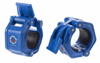 Lock Jaw 2 inch Olympic Barbell Collars - Blue $39.99