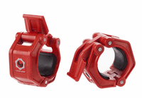 Lock Jaw 2 inch Olympic Barbell Collars - Red $39.99
