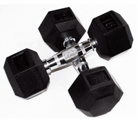Rubber Coated Hex Dumbbells - USA Brand $0.00