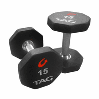 Tag 8 Sided Ultrathane Dumbbells 105-150lb Set $7,999.00