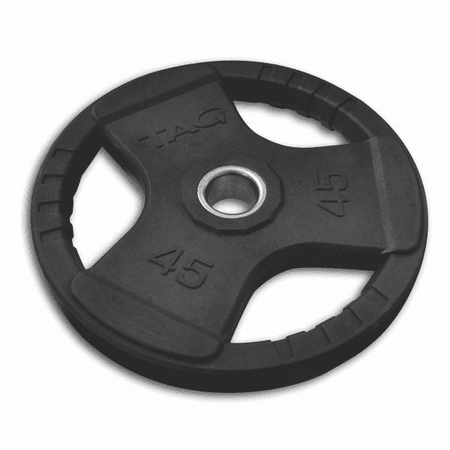 Tag Fitness 255lb Rubber Olympic Set