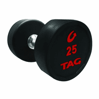 Tag Round Rubber Encased Dumbbells 5-50lb Set $1,449.00