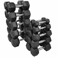 Tag Rubber Coated Hex Dumbbells  5-50lb Set $1,099.99