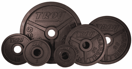 Troy Black Wide Flanged Olympic Weight Set - 255lbs