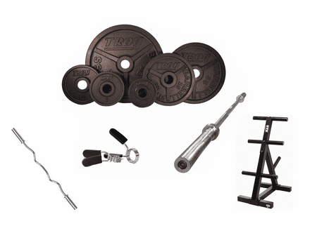 Troy Black Wide Flanged Weight Set Package