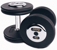 Troy Pro Style Dumbbell Sets  Black W/Chrome End Caps $0.00