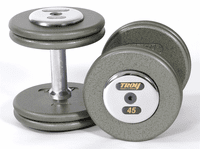 Troy Pro Style Dumbbell Sets Gray W/ Chrome End Caps $0.00