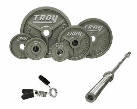 Troy Wide Flanged Gray Olympic Weight Sets
