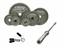 Troy Wide Flanged Gray Olympic Weight Sets $619.99