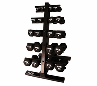 VTX Neoprene Dumbbell Set With Rack $399.99