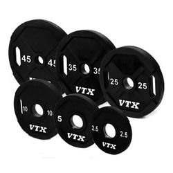 VTX Urethane Olympic Weight Plate Set - 355lbs $999.99