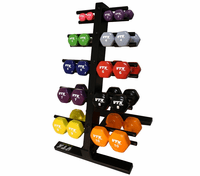 VTX Vinyl Dumbbell Set With Rack $389.99