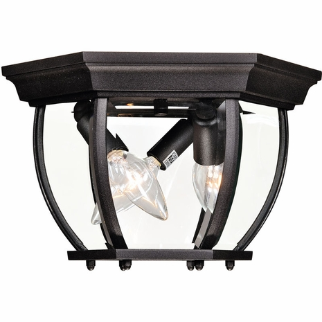 07038-BK Savoy House Mission Exterior Collections Flush Mount in Black