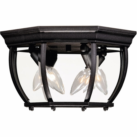 07039-BK Savoy House Exterior Collections Flush Mount with Bronze Finish