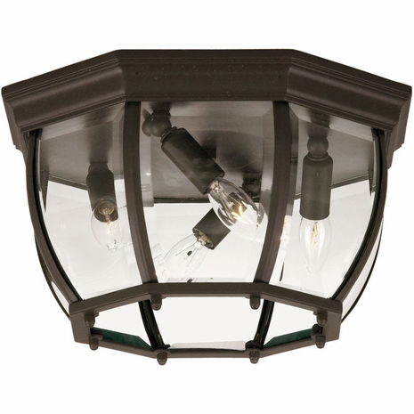 07039-BZ Savoy House Exterior Collections Flush Mount with Flat Black Finish