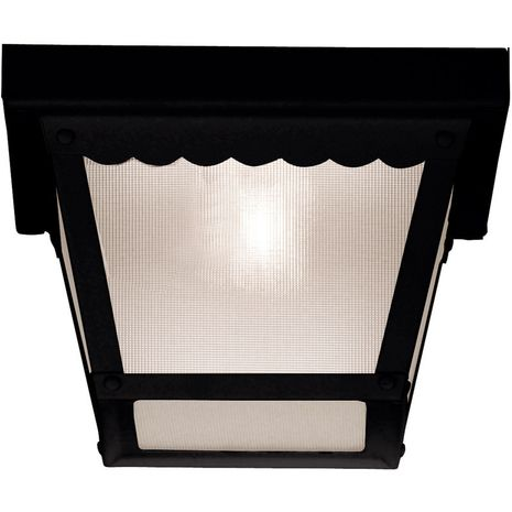 07044-BLK Savoy House Mission Exterior Collections Flush Mount in Black