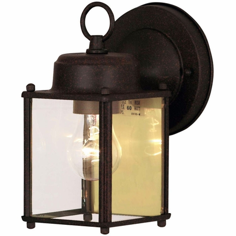 07047-RT Savoy House Mission Exterior Collections Wall Mount Lantern in Rust