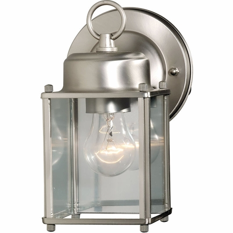 07047-SN Savoy House Mission Exterior Collections Wall Mount Lantern in Satin Nickel