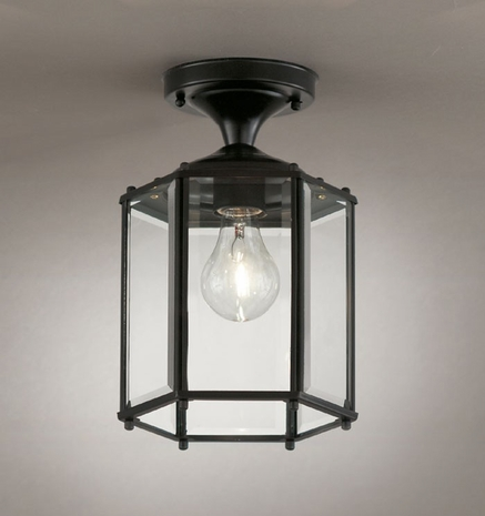 07056-BLK Savoy House One-Light Outdoor Flush Mount with Black Finish
