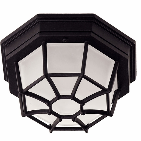 07065-BLK Savoy House Mission Exterior Collections Flush Mount in Black