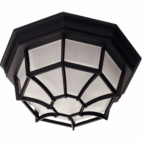 07066-BLK Savoy House Mission Exterior Collections Flush Mount in Black