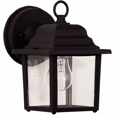 07067-BLK Savoy House Mission Exterior Collections Wall Mount Lantern in Black