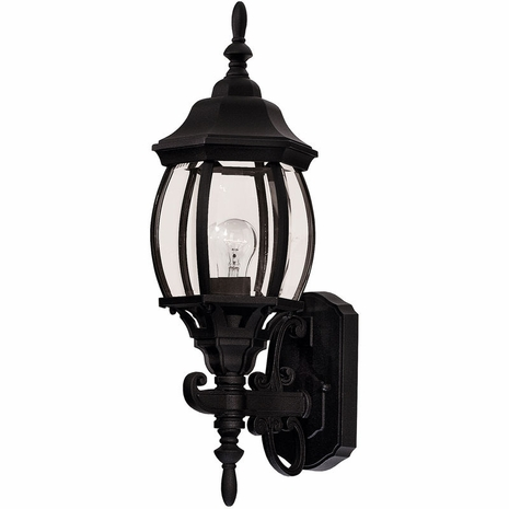 07073-BLK Savoy House Mission Exterior Collections Wall Mount Lantern in Black