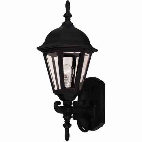 07076-BLK Savoy House Exterior Collections Wall Mount Lantern with Black Finish