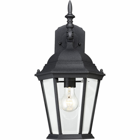 07077-BLK Savoy House Mission Exterior Collections Wall Mount Lantern in Black