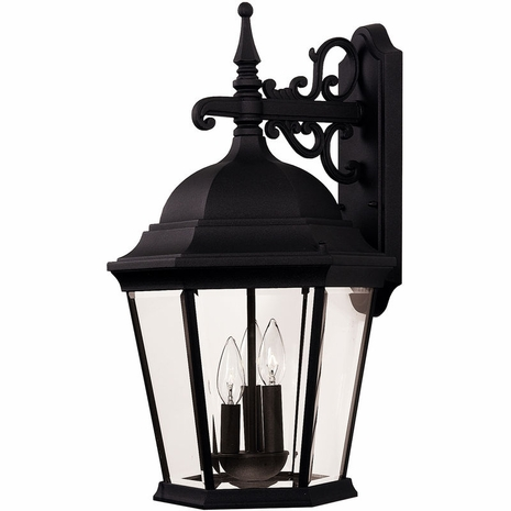 07081-BLK Savoy House Lighting Outdoor Exterior Collections Wall Mount Lantern