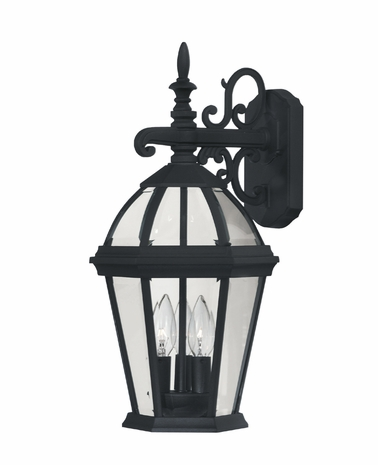 07089-BLK Savoy House Lighting Exterior Outdoor Wall Sconce Light