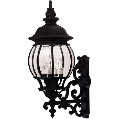 07094-BLK Savoy House Exterior Collections Wall Mount Lantern