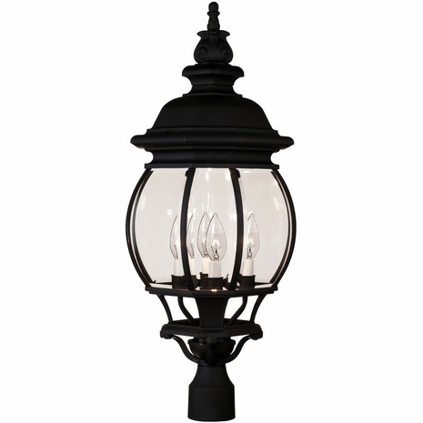 07097-BLK Savoy House Exterior Collections Post Lantern with Black Finish