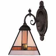 071-TB-01 ELK Lighting Mix-N-Match 1-Light Wall Lamp in Tiffany Bronze with Tiffany Style Glass